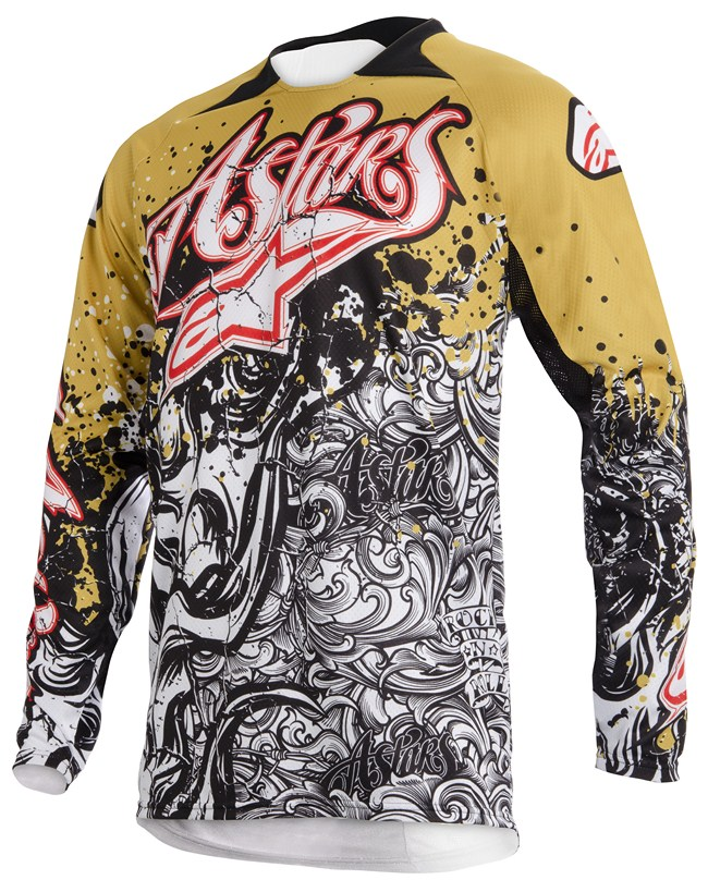 Alpinestars Charger off-road jersey gold white red