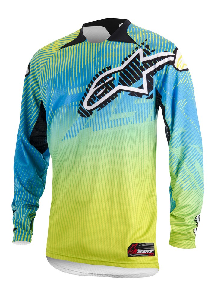 Maglia cross Alpinestars Charger 2014 lime verde ciano