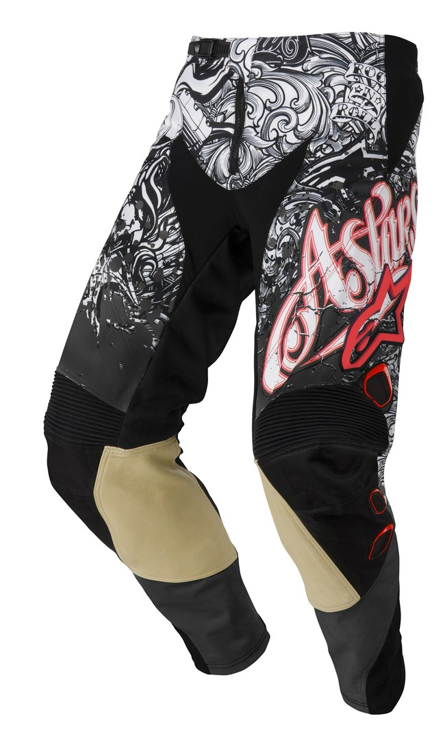 Pantaloni cross Alpinestars Charger nero bianco rosso