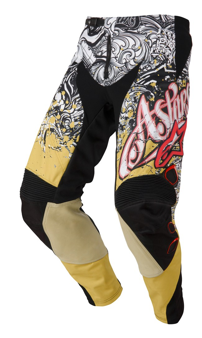 Alpinestars Charger off-road pants gold white red