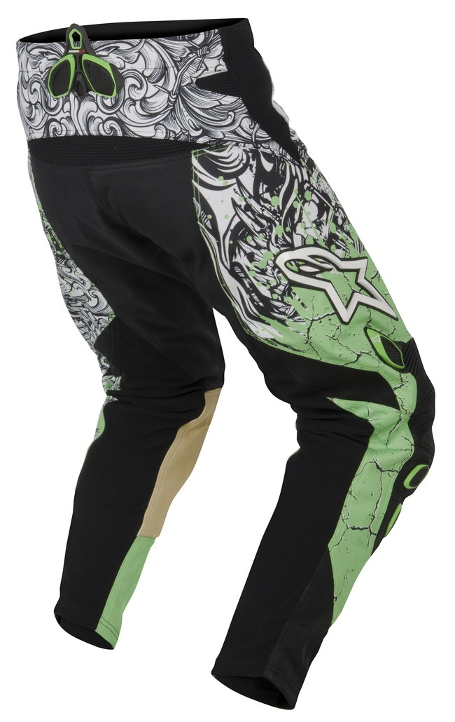 Pantaloni cross Alpinestars Charger verde nero bianco
