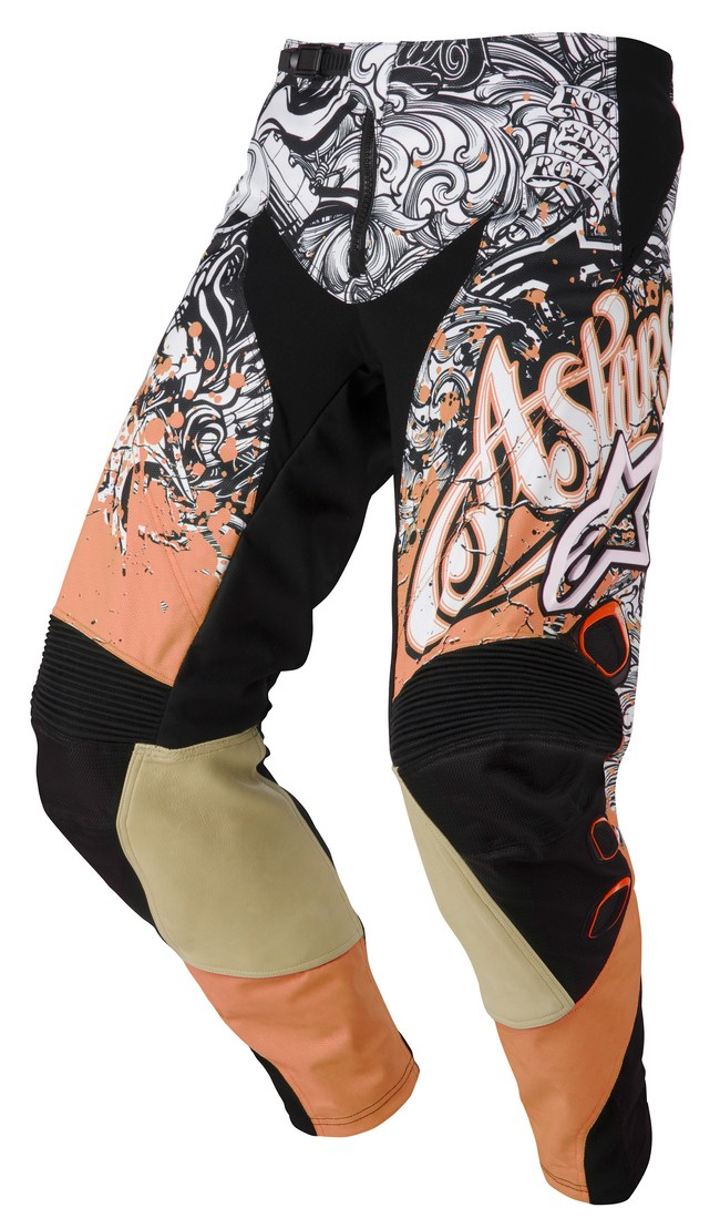 Pantaloni cross Alpinestars Charger arancio nero bianco