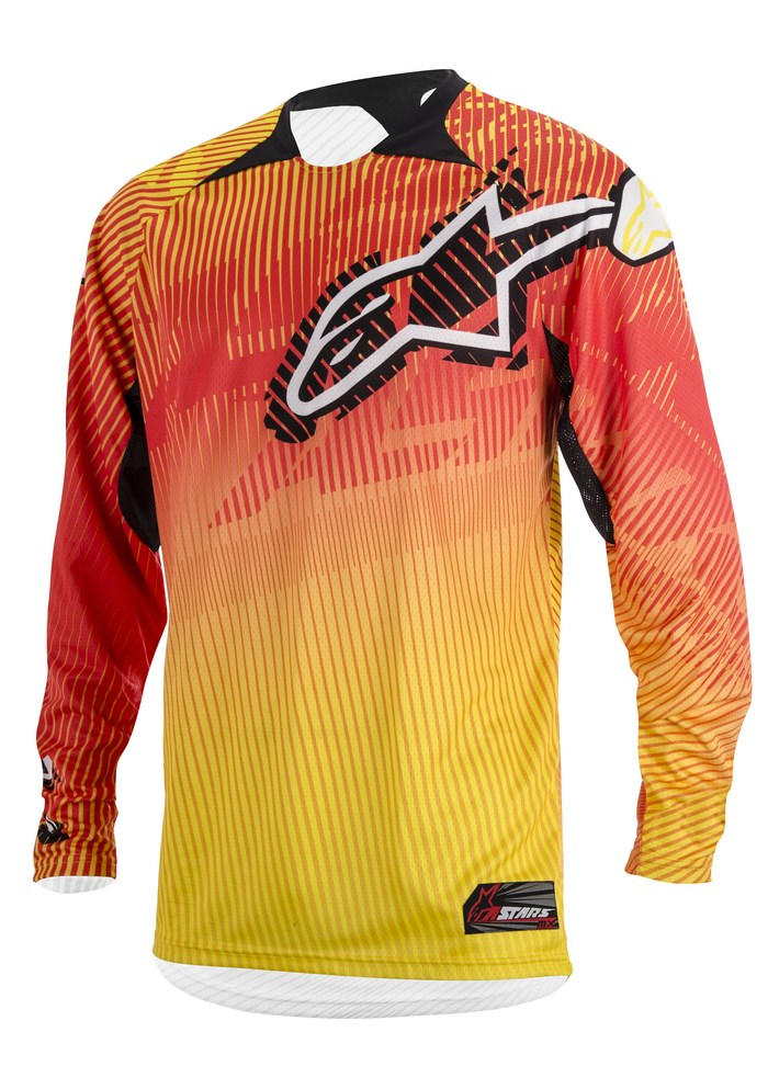 Alpinestars Charger 2014 offroad jersey orange red yellow