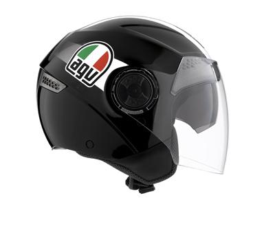 AGV Citylight Multi Race Open Face Helmet - Col. Black/White
