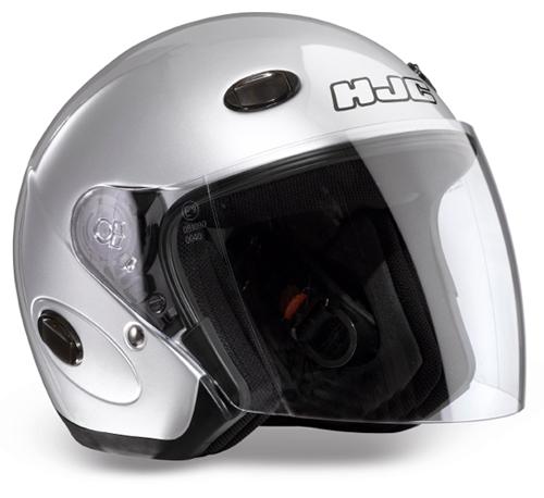 Casco moto jet HJC CL33 Argento