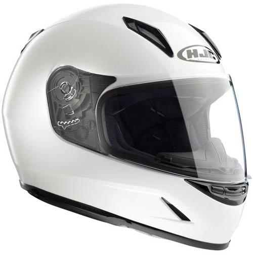 HJC CLY full face kid helmet Metal White