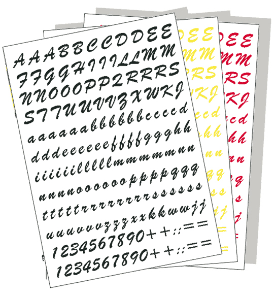 Adhesive Letters Kit, 70 Characters 20mm height