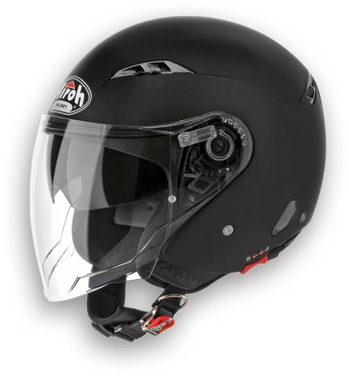 Airoh City one Color urban jet helmet black matt