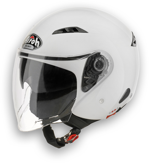 Casco moto Urban Jet Airoh City One Color bianco lucido