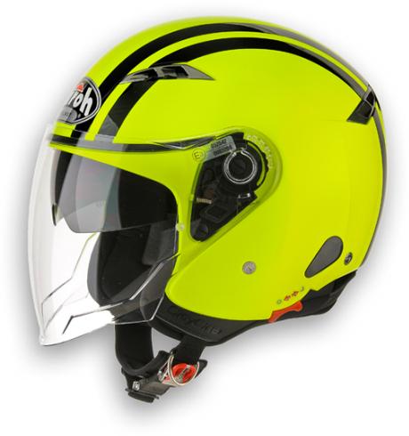 Casco moto Urban Jet Airoh City One Flash giallo lucido