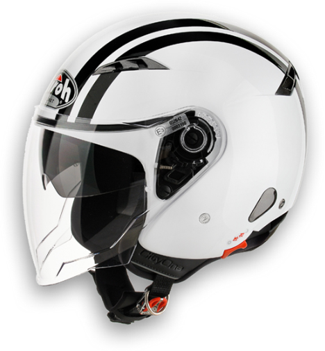Casco moto Urban Jet Airoh City One Flash bianco lucido