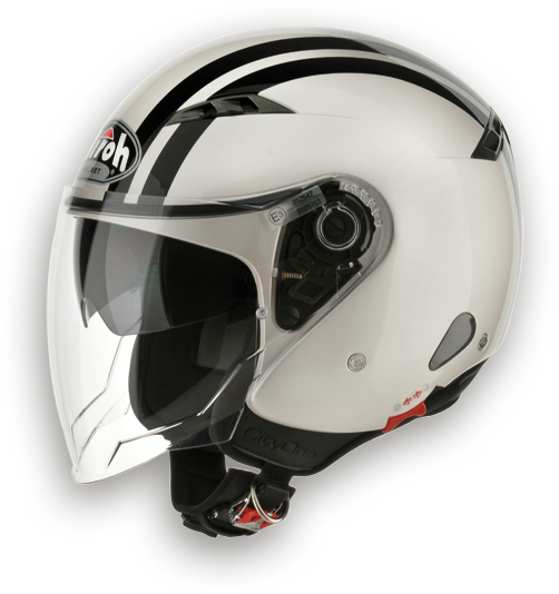 Casco moto Urban Jet Airoh City One Flash ocra