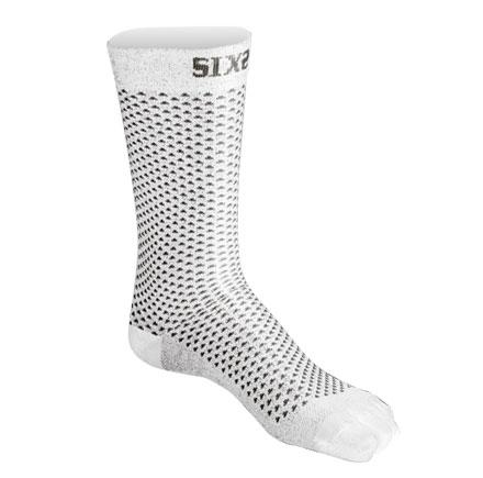 Calze tecniche corte a compressione Sixs Bianco