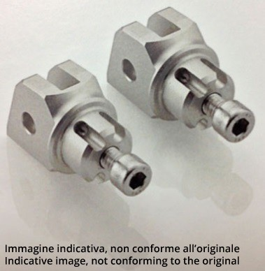 Coppia adattatori specifici per poggiapiedi posteriore LighTech FTP023ligh