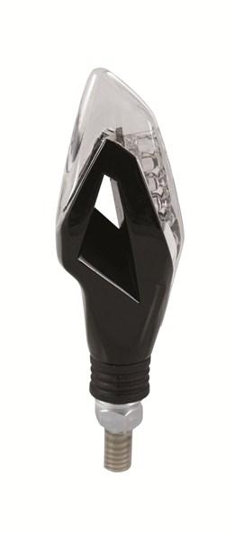 Coppia frecce LED omologate Chaft Dragon Nero Trasparente