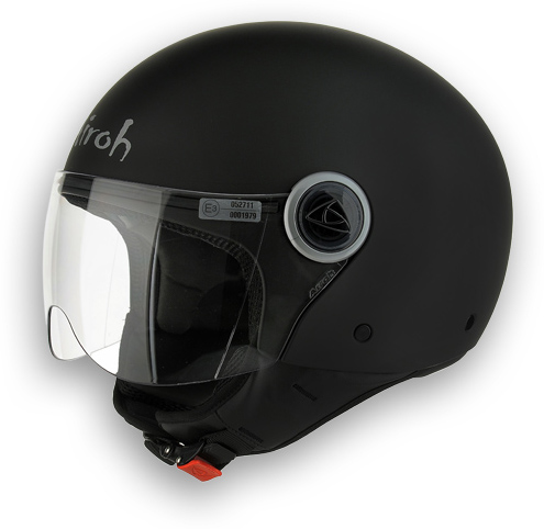 Compact Color Motorcycle Helmet Matte Black Airoh