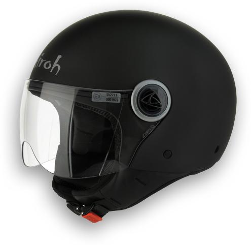 Casco moto Airoh Compact Color nero opaco