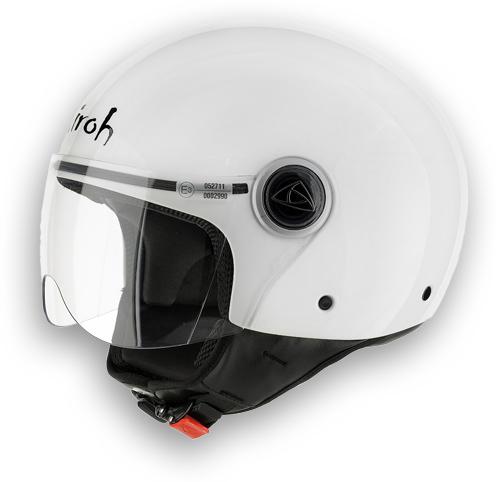 Casco moto Airoh Compact Color bianco lucido