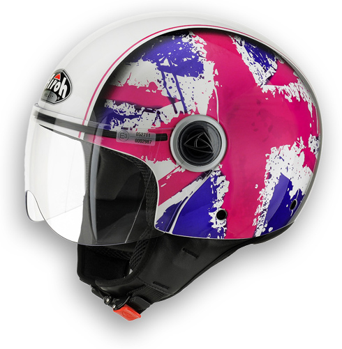 Compact pink shiny motorcycle helmet Fun Airoh