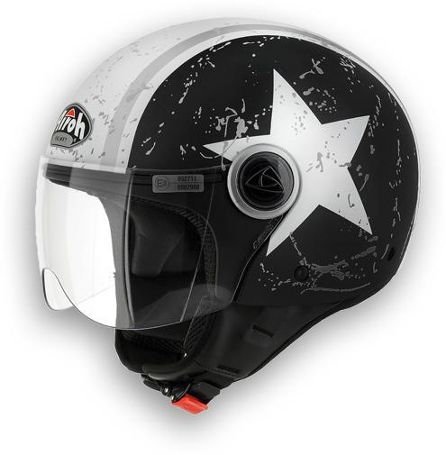 Compact Matte Black Motorcycle Helmet Shield Airoh