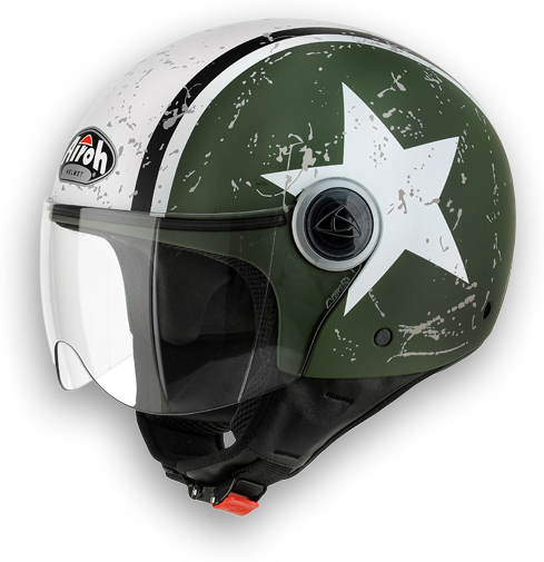 Motorcycle Helmet Shield Compact dull green Airoh