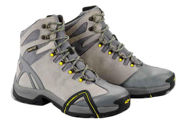 Alpinestars CR-4 Gore-Tex XCR motorcycle shoes silver-anthracite