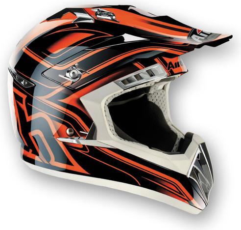 Casco moto cross Airoh CR900 Leave arancio
