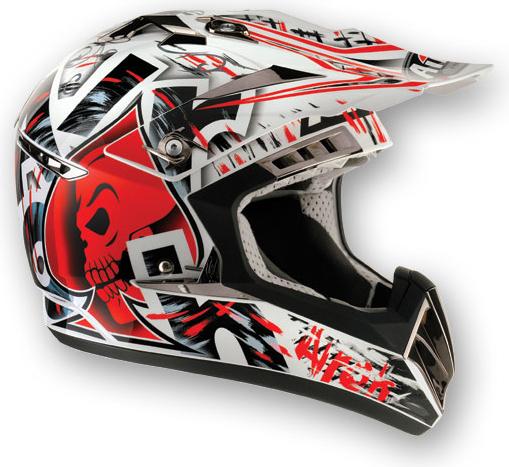 Casco moto cross Airoh CR900 Raptor rosso