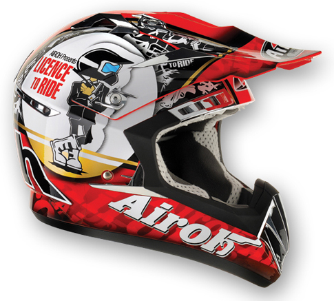 AIROH CR900 Ride MX Helmet - Col. Red