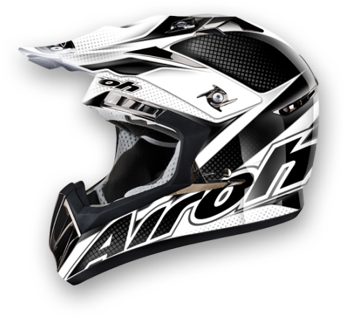 Casco moto cross Airoh CR900 Linear nero