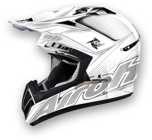 Casco moto cross Airoh CR900 Linear bianco