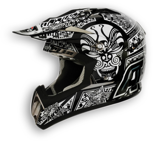 Casco moto cross Airoh CR900 Maori nero lucido