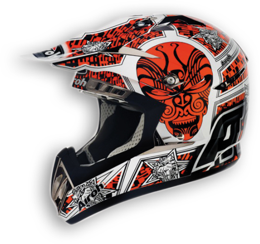 Airoh CR900 Maori off-road helmet orange gloss
