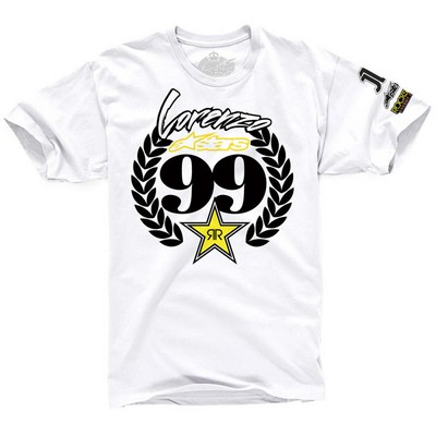 T-shirt Alpinestars Crowned Tee bianca S. Limitata Jorge Lorenzo