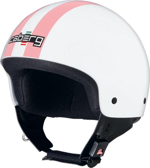 Casco moto Caberg Cruiser Legend bianco-rosa