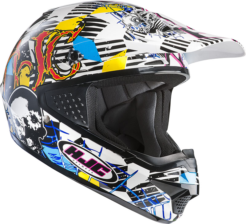 Casco moto cross HJC CSMX Clown MC3