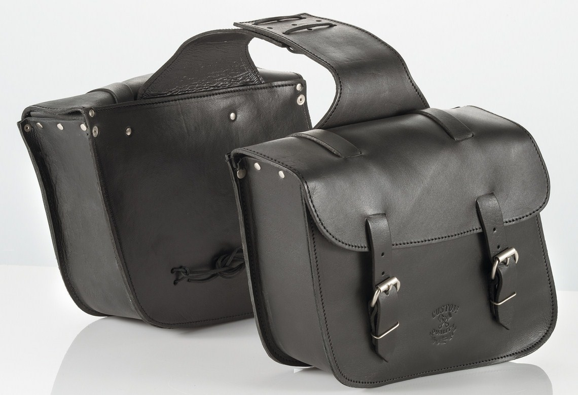 Pair leather saddlebags Kappa