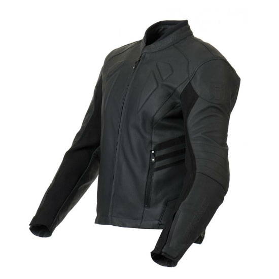 Approved leather motorcycle jacket Bering Mikio Black