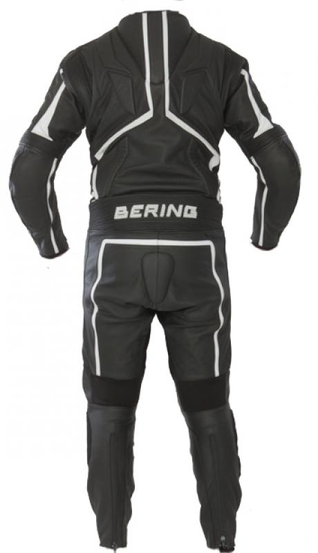 Leather motorcycle suit Approved Bering Flash Black White