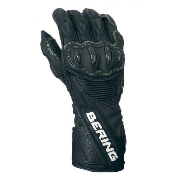 Leather motorcycle gloves approved Bering RX19 Black