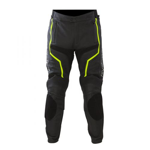 Leather motorcycle pants Approved Bering Flash Black White Yello