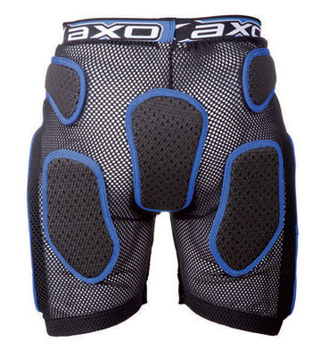 Protective Shorts AXO Soft Rock Pant Black White