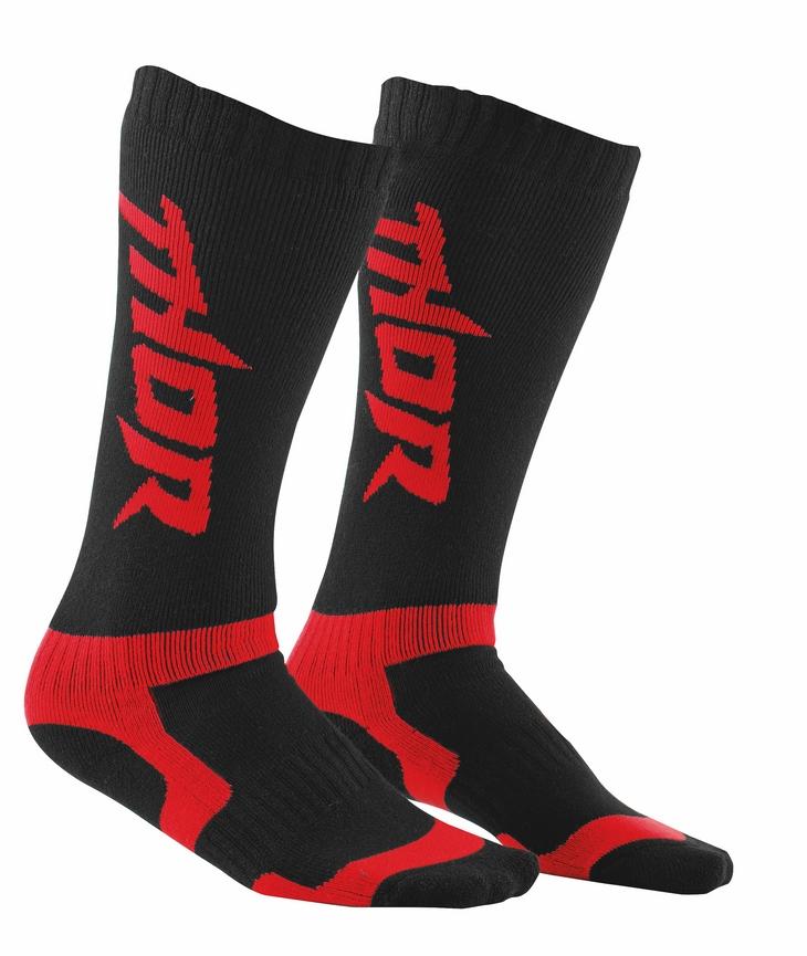 Thor MX socks black red