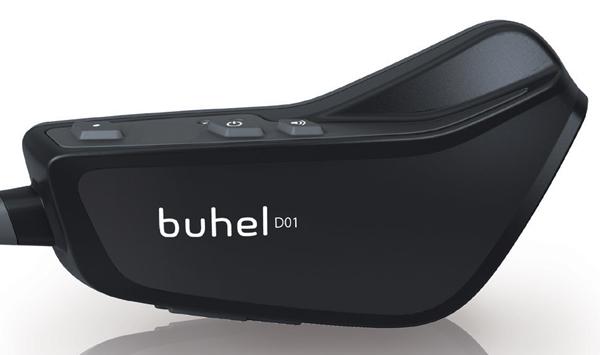 Buhel helmet communication system D01.1 intercom black single