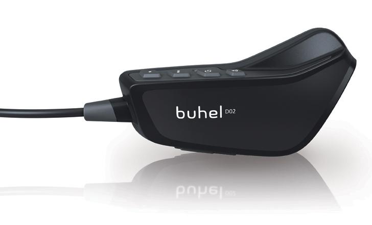 Interfono moto-moto Bluetooth Buhel D02