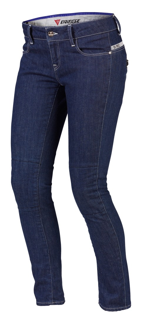 Pantaloni denim Dainese D19 Denim Lady blu