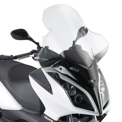 Windscreen Givi for Kymko with hand guards