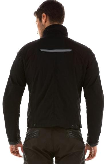 Giacca moto in tessuto Dainese Romero Tex colore nero/nero