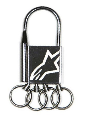 Detached Keychain gunmetal Alpinestars