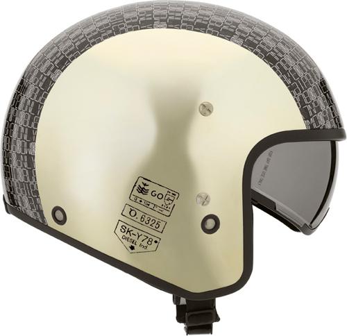 Diesel Hi-Jack Multi Digit jet helmet gold-chrome